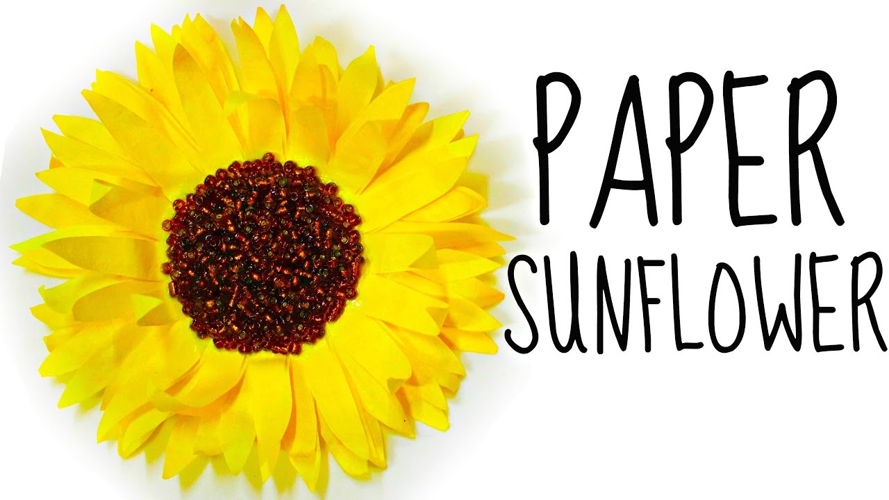 How To Make A Flower From Coffee Filters Diy Paper Sunflower