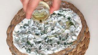 Yoğurtlu Semiz Otu Salatası | Semizotunu Bu Haliyle Çooook Seveceksiniz | Tatlı Sanatı