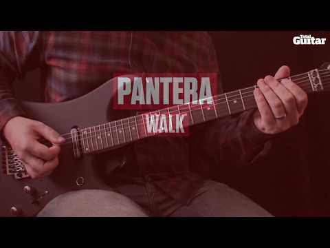 Guitar riff lesson: Pantera - Walk