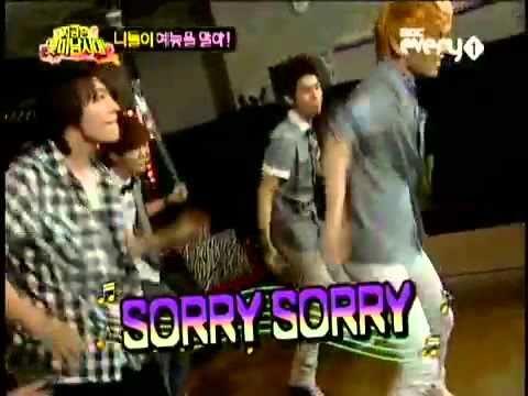 SHINee's Key dancing on Sorry Sorry [SUper Junior]