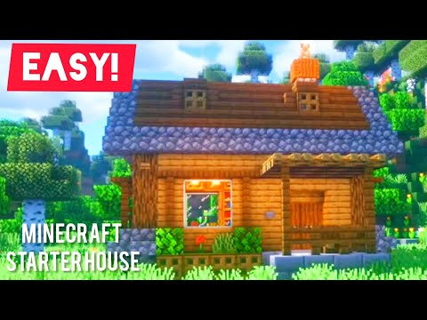 Minecraft: How to build a Starter Survival House [Minecraft House Tutorial]