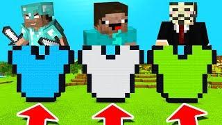 Minecraft PE : DO NOT CHOOSE THE WRONG ARMOUR! (Noob vs Pro vs Hacker)
