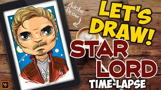 Let's Draw - Marvel's Star Lord - Adobe Draw Time-Lapse