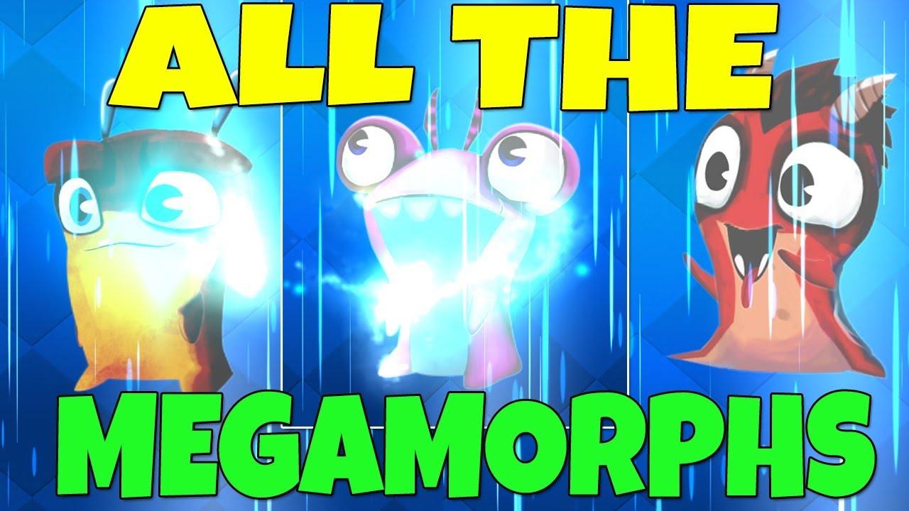 all the megamorphs evolving