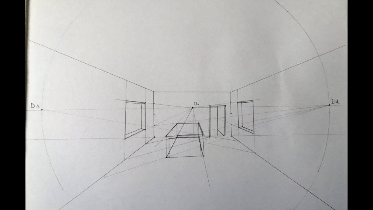Disegno Prospettiva Di Una Camera Da Letto
