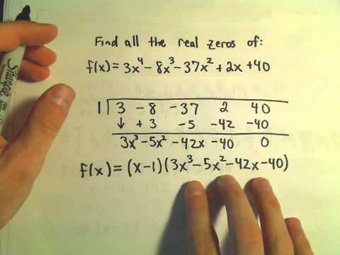❖ Finding All The Zeros Of A Polynomial - Example 3 ❖