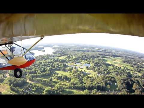 Ultralight Flying near Akron, Ohio on evening flight.