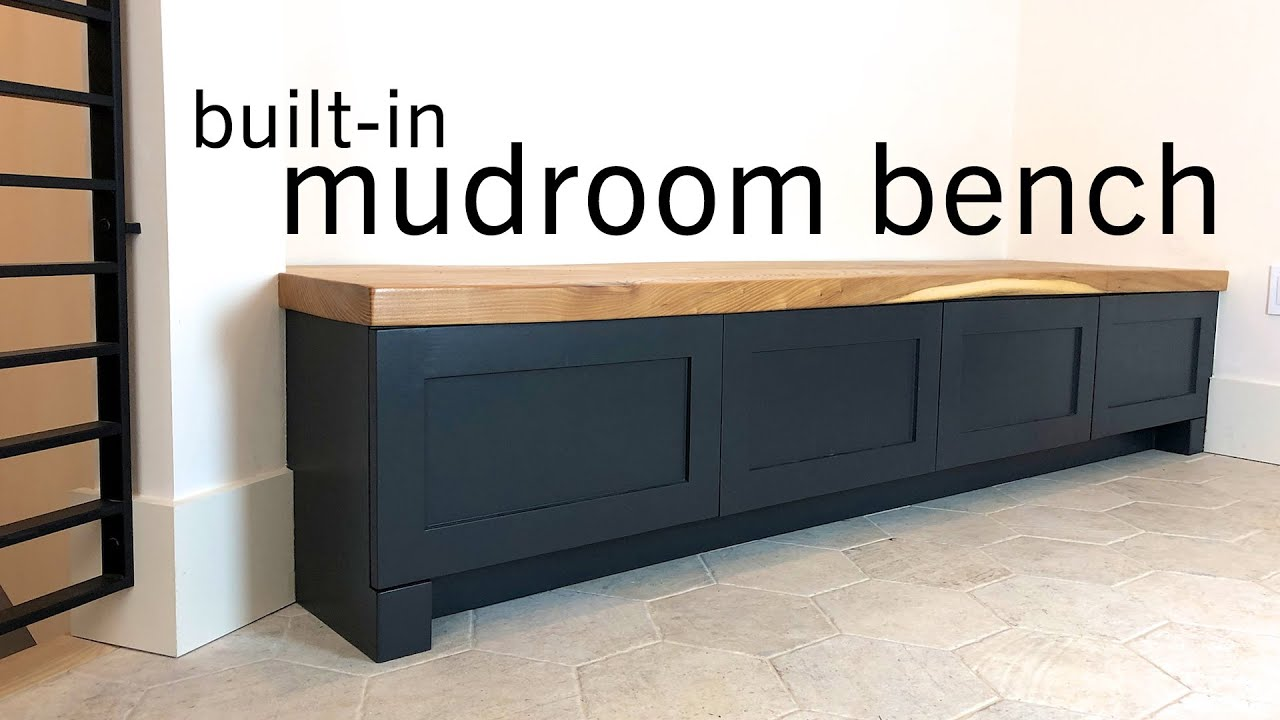 Built In Mudroom Bench W Drawers Slab Top Youtube