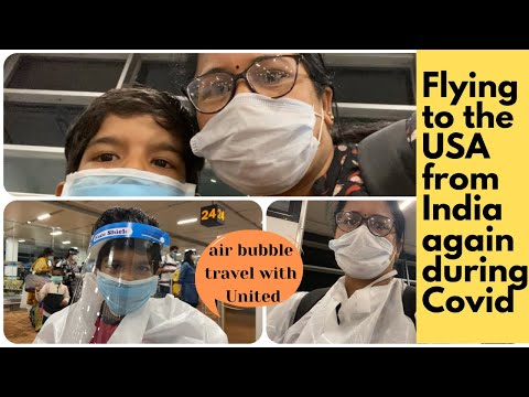 Traveling Again To The US During Covid By United Airlines | Air Bubble Travel |