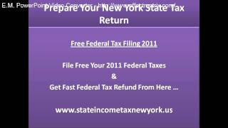 Prepare Your New York State Tax Return, Prepare NY State Taxes and Get quick Tax Refund