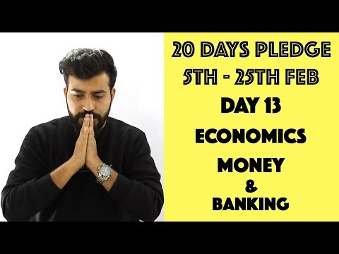 Day-13 - Money and Banking - class12th #20dayspledge #commercebaba
