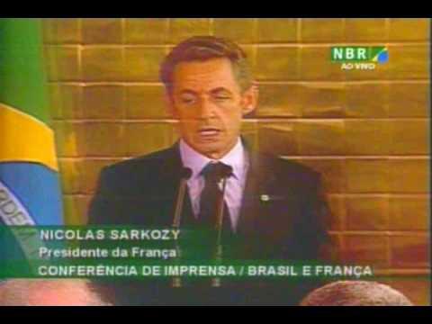 Presidente Nicolas Sarkozy/ Conferência de imprensa / Brasil e França