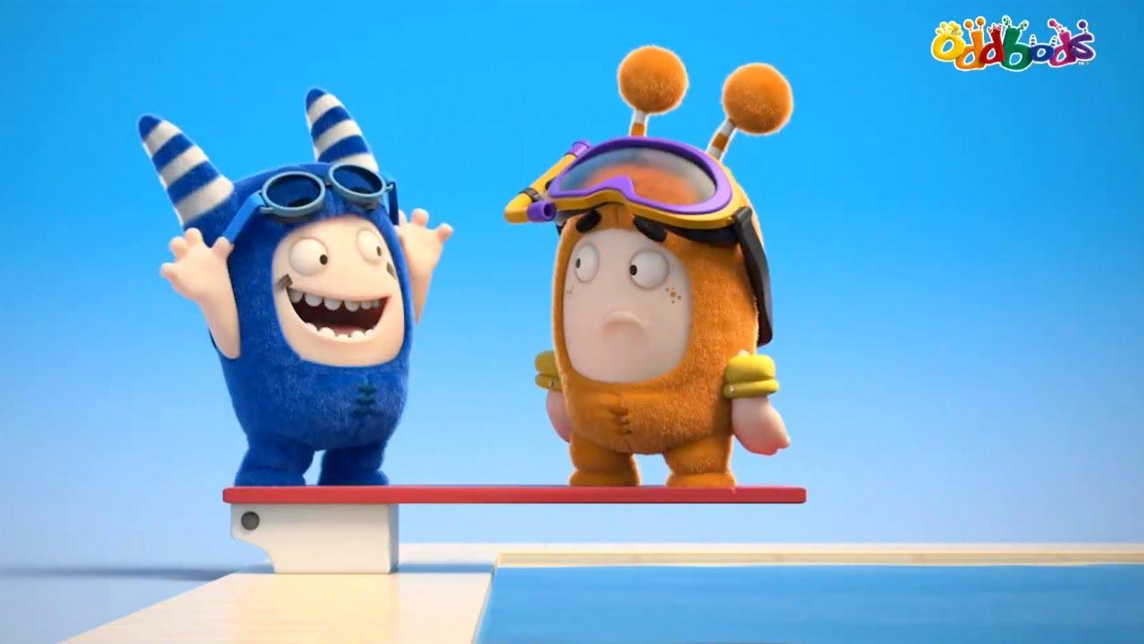 """Oddbods   NOVO   """"TIBUM"""" NA PISCINA   Desenhos Animados Engraçados Para Crianças"""