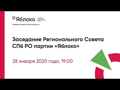 Заседание Регсовета СПб РО Яблоко 28.01.2020