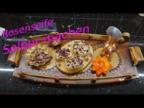 Seife Selber Machen  / Naturseife Zu Hause Sieden / Olivenöl Rosenseife / DIY