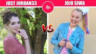 Cute Girls - Just Jordan33 Vs JoJo Siwa ( Youtuber Vs Dance Moms ) Musically Compilation