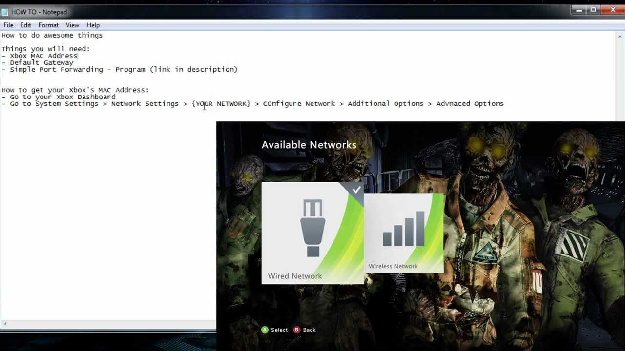Tutorial: Opening NAT For Xbox Live & Setting Static IPs (ALL ...