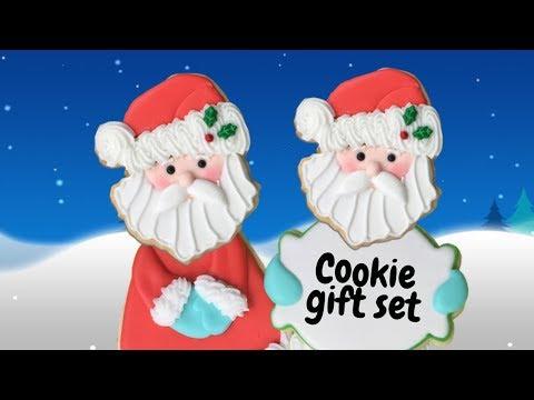 3 Piece Santa Cookie Gift set -  Christmas Cookie gift - Instrumental relaxing tutorial