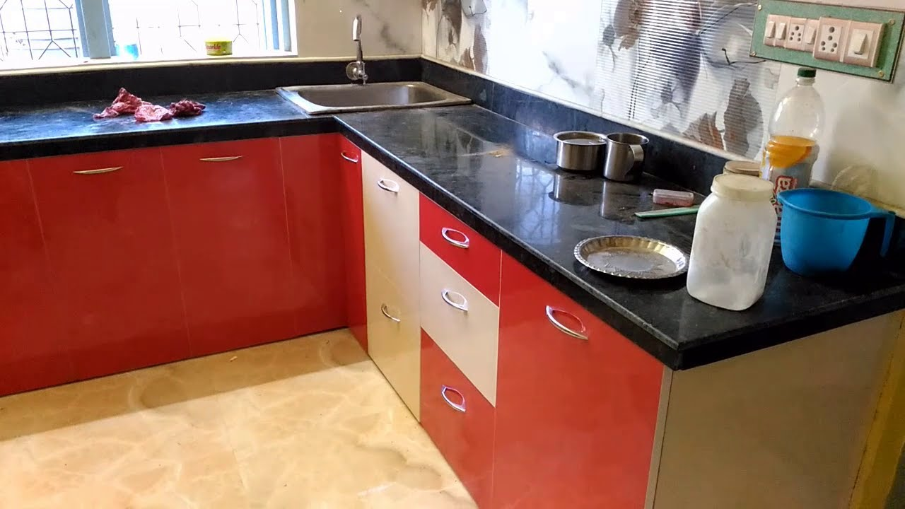Red And Ivory Modular Kitchen Designs Youtube