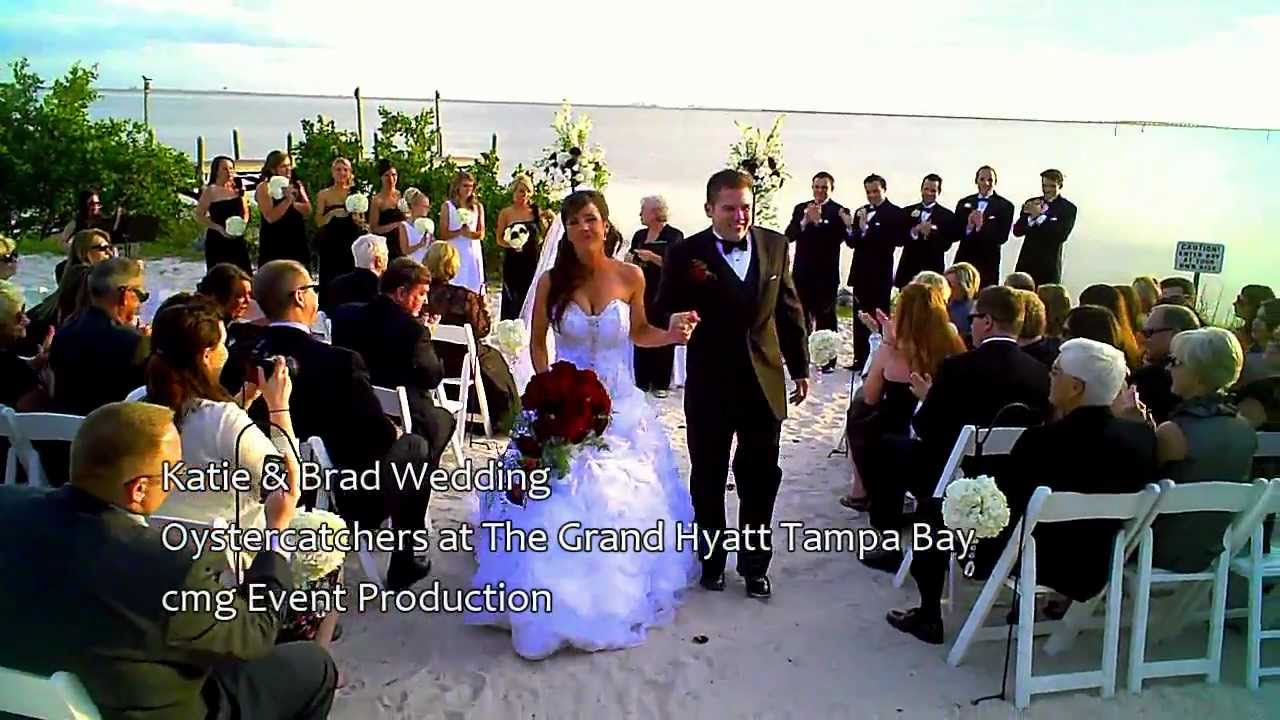 Katie Brad Get Married At Oystercatchers The Grand Hyatt Tampa Bay Wedding Dj