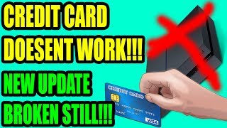 PS4 STILL CANT BUY GAMES IN THE PS STORE WITH A CREDIT CARD!!! THIS UPDATE IS A$$!!