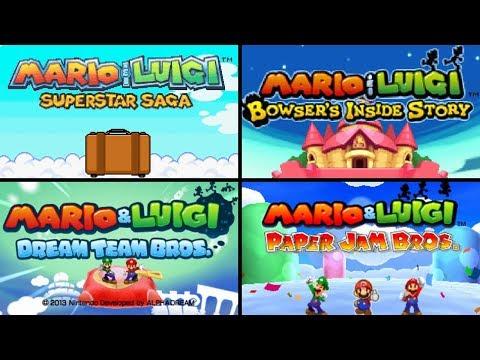 Evolution Of Mario & Luigi Intros HD (2003 - 2017)