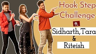 Sidharth Malhotra, Tara Sutaria & Riteish Deshmukh take the Hook Step Challenge | Marjaavaan | BOI