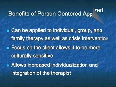 the history of person centred counselling Person-centered therapy, or rogerian therapy, emphasizes the idea that the client is in control of his or her therapeutic process and that the therapist is not the expert instead, the therapist is an empathic person who helps the client realize his or her capacity for personal growth rogers.