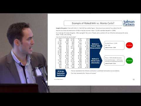 Monte-Carlo Approach to  Exploration Portfolio Valuation - A