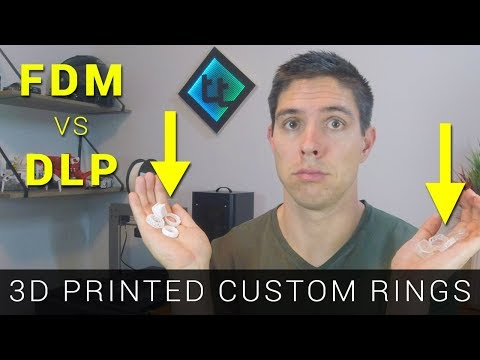 Modelling 3D Printed / Investment Cast Rings - Part 5 (Printing In FDM Vs DLP)