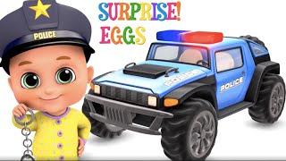 Police Car Chase   Cartoon police cars for kids   Jugnu Kids