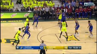 (NCAAM) #3 Kansas at #4 Baylor in 40 Minutes - 2/18/17