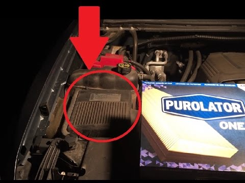 How to change the engine air filter on 2007-2017 Chevrolet Silverado