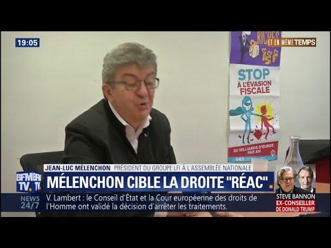 """Jean-Luc Mélenchon sur Bellamy: """"C'est la droite la plus archaïque qu'on connaisse dans ce pays"""""""