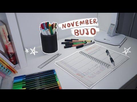 Minimal November Bujo Setup 🍃