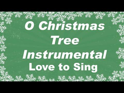 O Christmas Tree Christmas Instrumental Music  | Karaoke Xmas Songs with Sing Along Lyrics