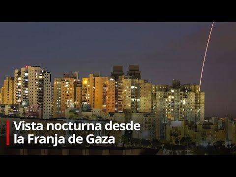 EN VIVO: Vista nocturna desde la Franja de Gaza (13/05/2020)