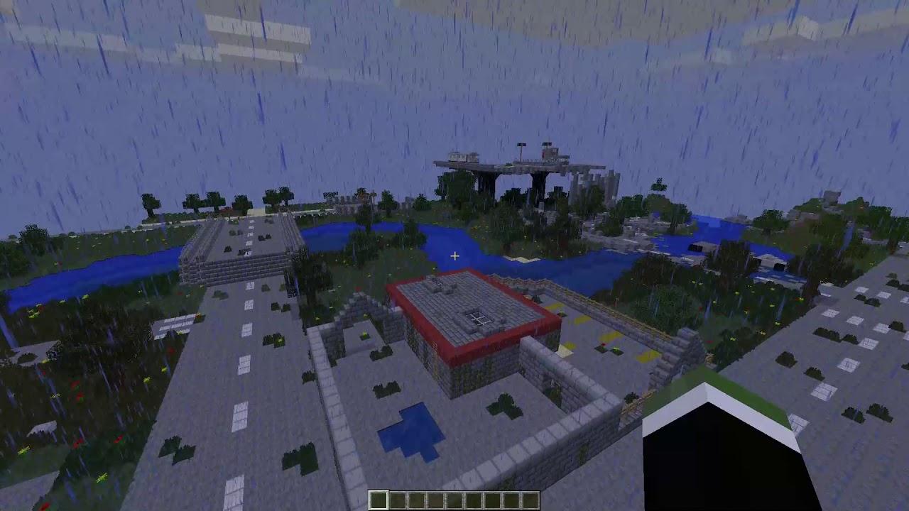 карта на выживание в зомби апокалипсис в майнкрафт 1.7.10 #5
