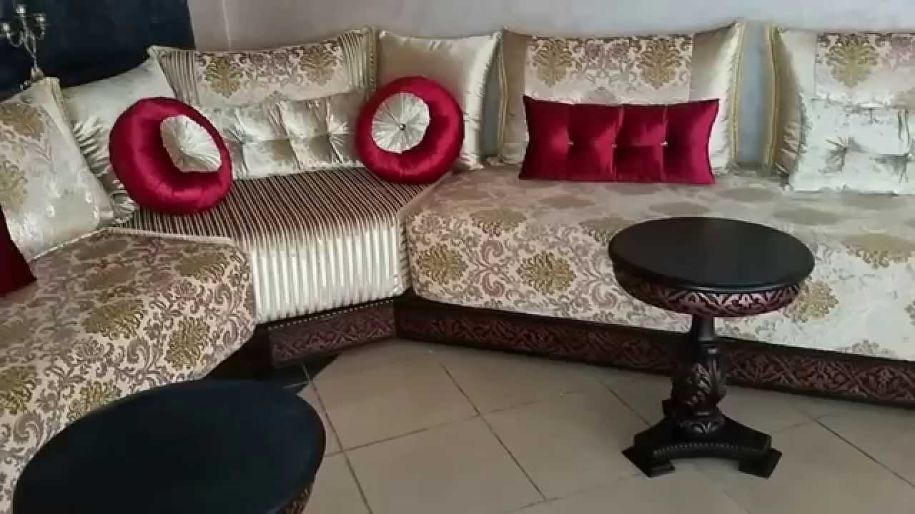 design salon marocain 2016 youtube. Black Bedroom Furniture Sets. Home Design Ideas