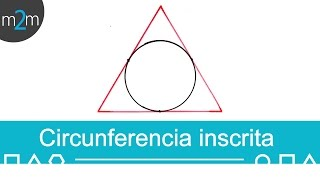 Polígono circunscrito y circunferencia inscrita