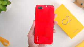 Silently Unboxing The Realme C2 Diamond Ruby: ASMR