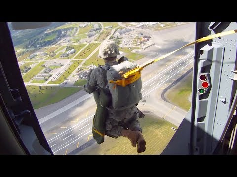 C-17 Globemaster III & Army Paratroopers - Simulated Assault on Air Field