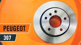 Montaż Zestaw klocków hamulcowych przednie i tylne PEUGEOT 307: instrukcje wideo