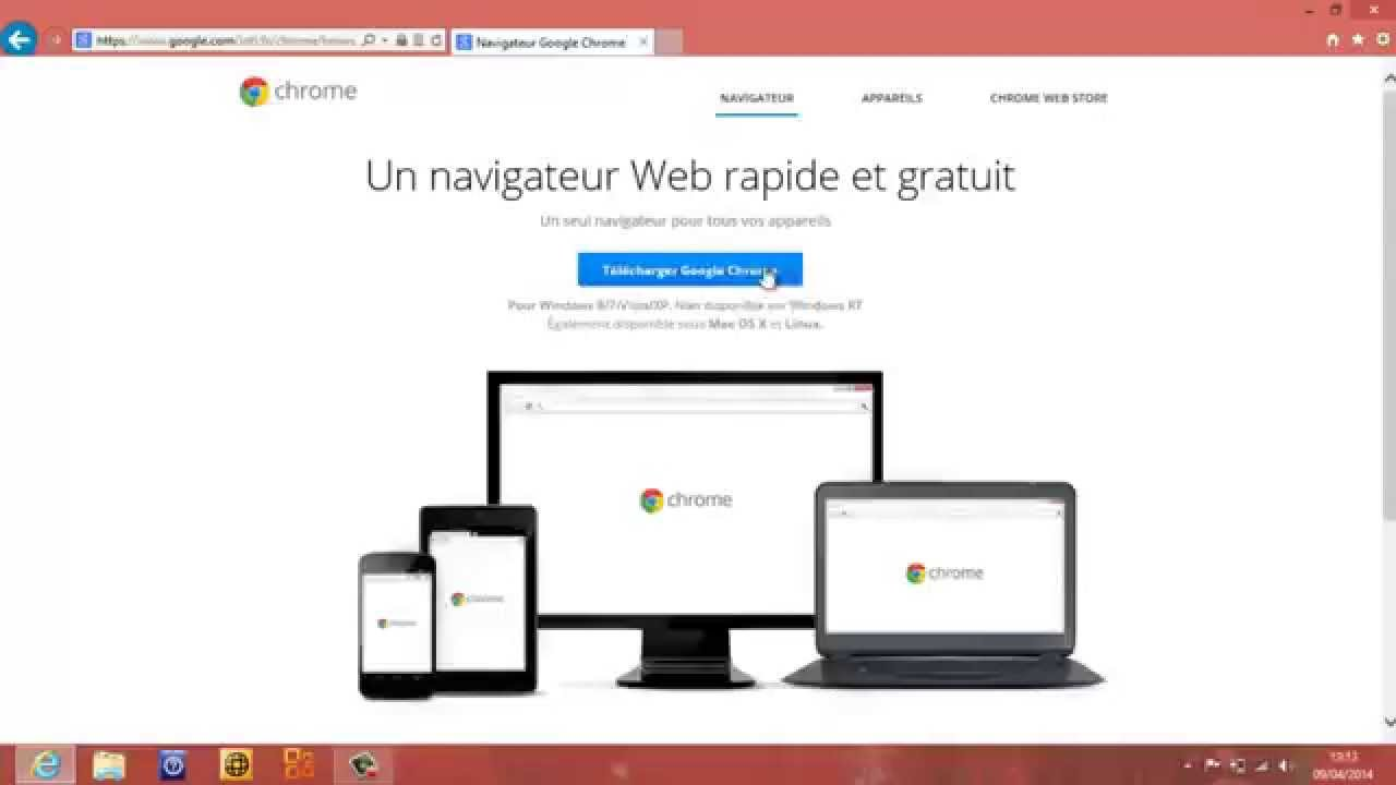 Installer Télécharger Chrome et Google