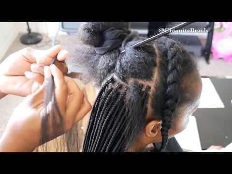 Small Braids On Long Hair Using EzBraids Braiding Hair