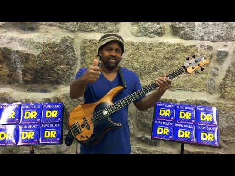 DR Strings PURE BLUES Bass Guitar Strings PB5-40