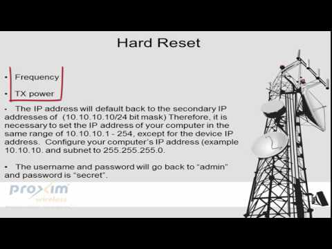Tsunami® GX-810 Reset Procedures