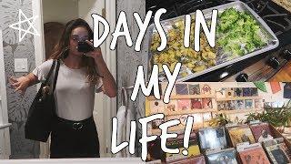 summer vlog: internship, healthy grocery haul, busy days