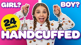 24 HOURS HANDCUFFED to a BOY & GIRL Challenge **LOST KEYS**🔑| Piper Rockelle thumbnail