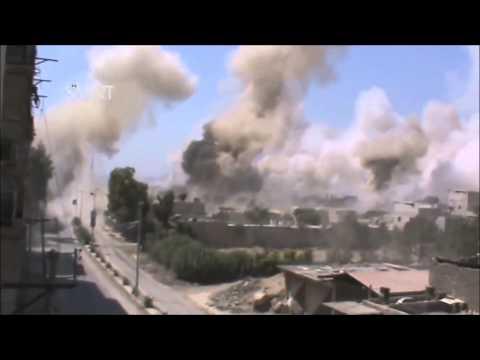 BM-30 'Smerch' Rockets hit Jobar, Damascus [HD]